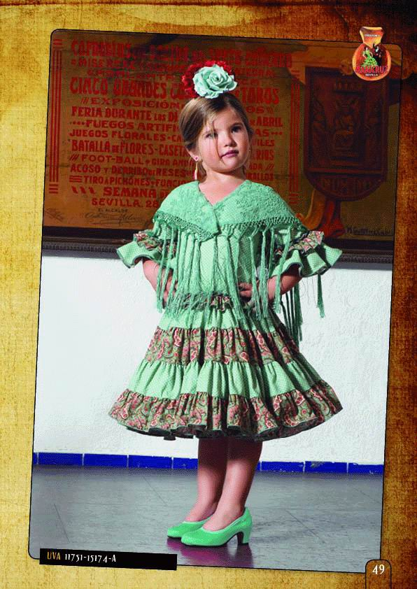 Flamenca Dress For Girl. Model. Uva Verde