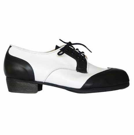 Black and White Flamenco Shoes for Men. Carácter inglés Z-035