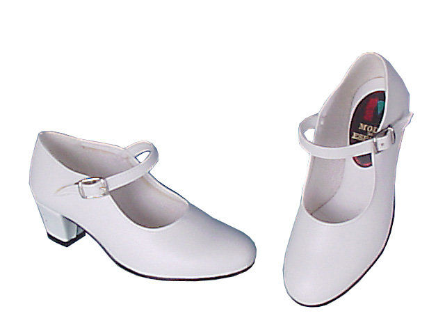 White Flamenco Dance Shoes