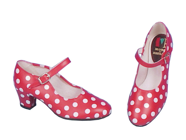 Red Shoes with White Polka Dots
