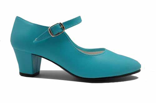 Turquoise Flamenco dance shoes