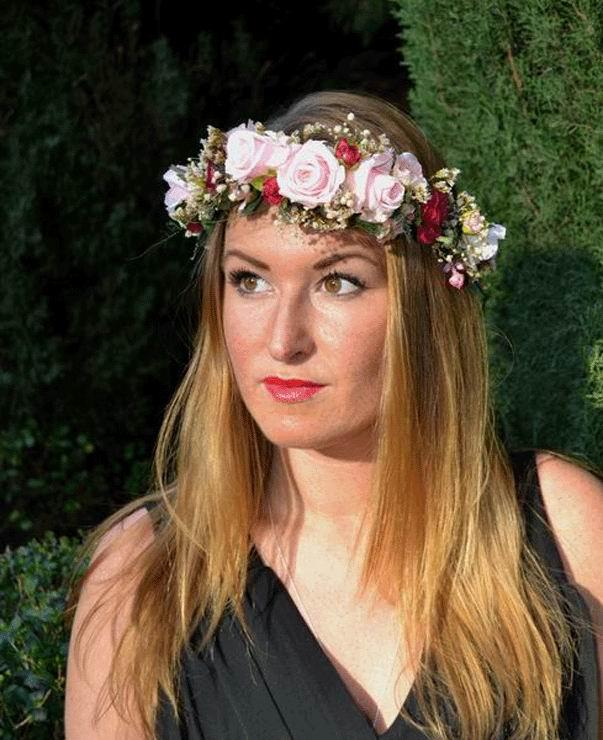 Crown Adele. Preserved Flowers Boho Chic