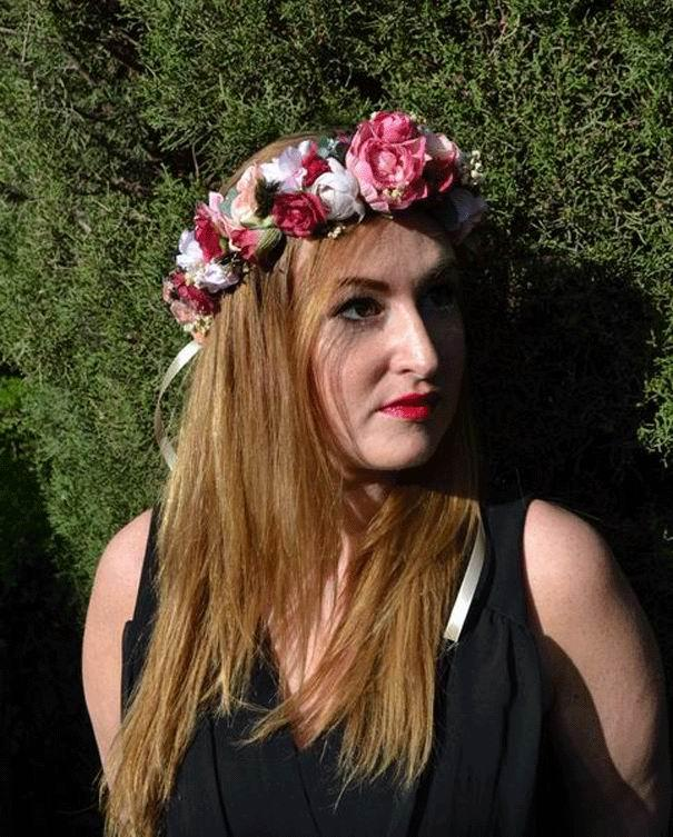 Crown Leticia. Preserved Flowers Bohemian Style