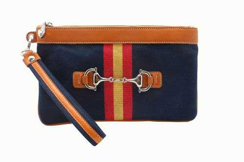 Purse in Blue Tarpaulin with the Spanish Flag