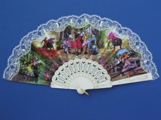 Fan With Flamenco and Bullfights Scenes ref. 277