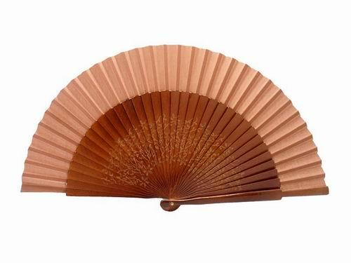 Hazelnut sycamore wood laser engraved fan. Ref. 150