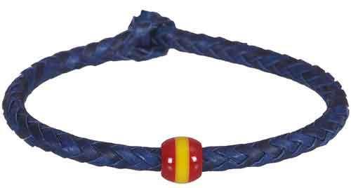 pulsera cordon azul nudo bola bandera de espa a. Black Bedroom Furniture Sets. Home Design Ideas