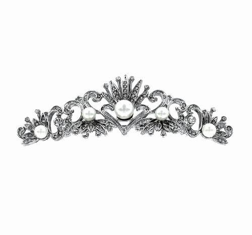 Costume Jewelry Zirconia and Pearl Brooch. Ref. 297