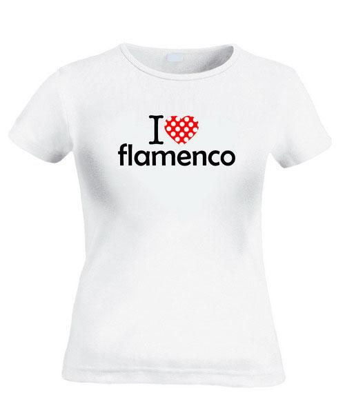 T-シャツ I Love Flamenco