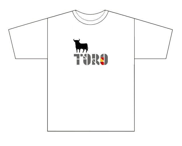 f73b0621d89f2 Camiseta Toro Logo España. Blanca