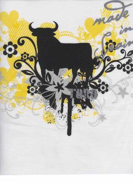 9a55402e8def T-shirt taureau Osborne blanc nature pour femme