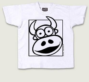 Camiseta toro colorear ni os - Pintar camisetas ninos ...