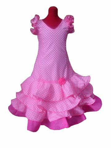 Flamenca Outfit for girls. Sevilla Model Fuxia