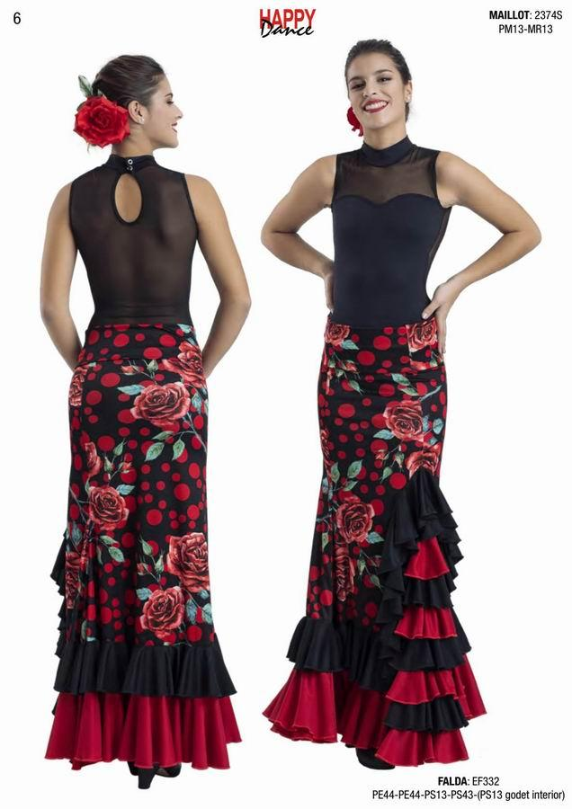 Happy Dance. Flamenco Skirts for Rehearsal and Stage. Ref. EF332PE44PE44PS13PS43(PS13 godet int.)