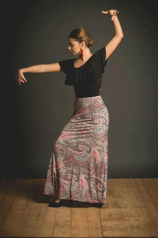 Flamenco Dance Skirt Atazar. Davedans