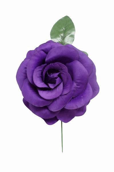Medium plain purple flower ch fabric flower 9cm big purple rose made of fabric 15cm mightylinksfo