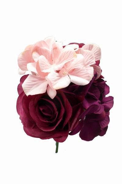 Ramos Grandes De Flores Para Adornar El Pelo En Tonos Buganvilla Y Rosa - Fotos-ramos-de-flores