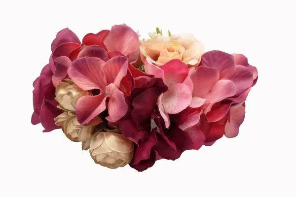 Headdress of Big Flowers in Bougainvillea
