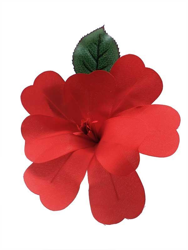 Fleur Flamenco Pour Cheveux Artesana Rouge