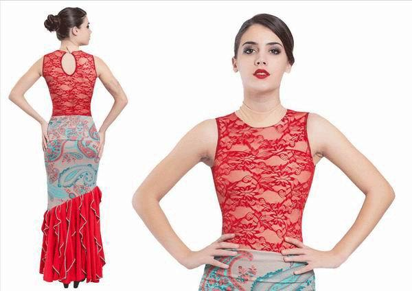 Maillot Flamenco Blonda. Ref. 3058