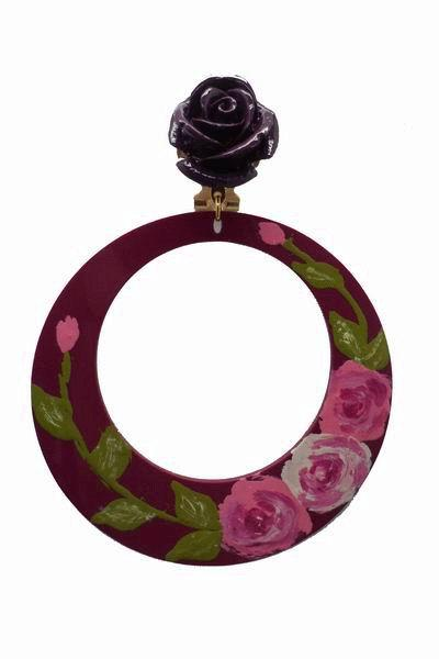 Hoops Painted by Hand made of Acetate in Boungainvillea