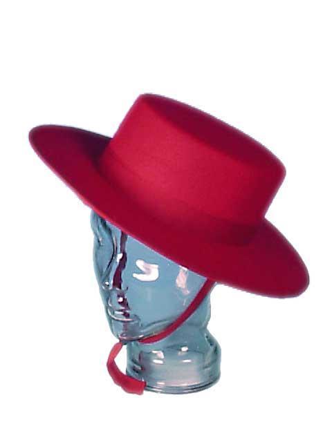 Sombrero Cordobes Fieltro. Rojo 3c08ace1cf1