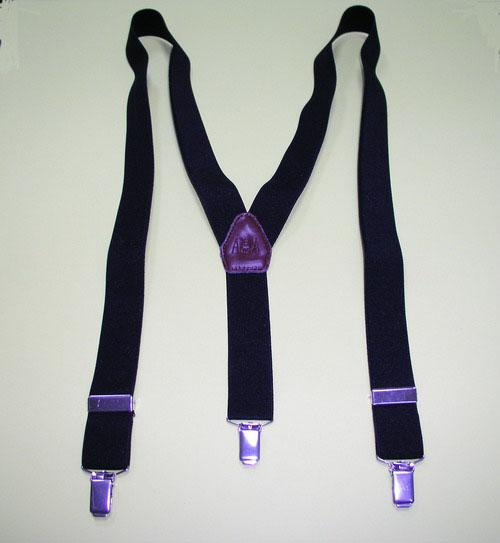 Black Stretchable Gentleman Suspenders with Clips