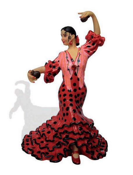 Danseuse flamenca vert pistache avec bata de cola aimant - Danseuse flamenco dessin ...
