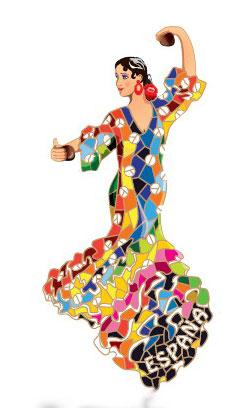 Im n bailaora traje flamenca gaudi - Dessin danseuse de flamenco ...
