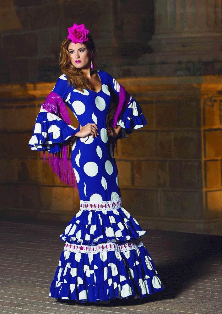 91b53273f0178 Traje de Flamenca. Modelo Cortijo. 2017-2018