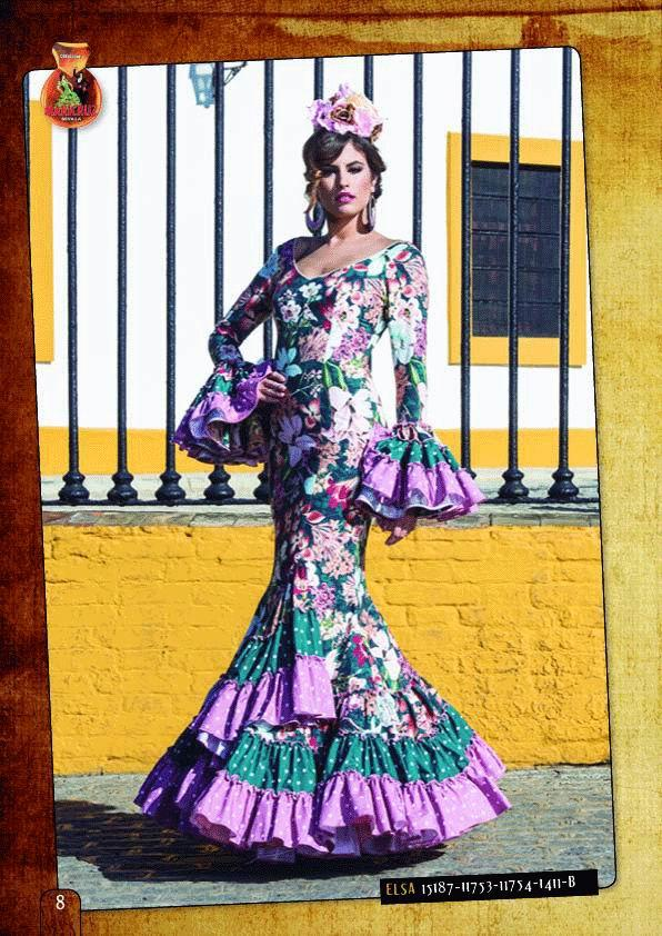 Flamenca Dress Elsa Flores model. 2018-2019