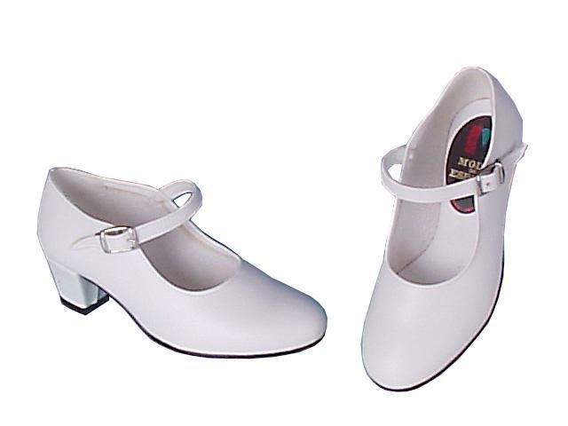 zapatos para baile flamenco blanco